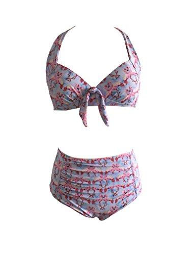 Ryan Dvan donne retrš° vintage spingere in alto in cui il costume da ragazza in (Billabong Ragazze Bikini Top)