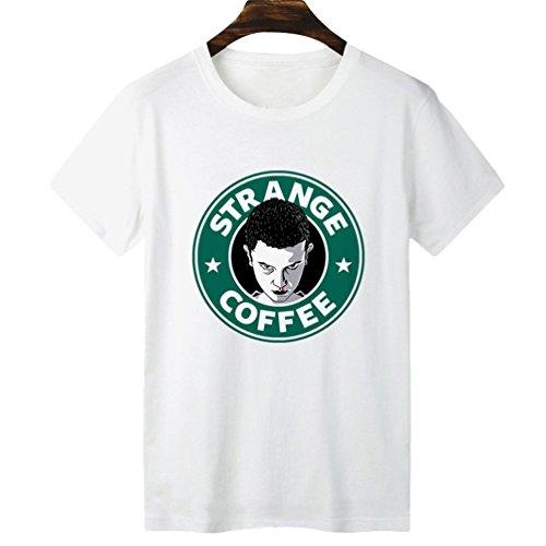 Yuanu Hombre Suave Cómodo Casual Straight Camiseta Manga Corta Cuello Redondo T-Shirt con Temática Impresión Sobre Stranger Things Impresión Estilo 19 S