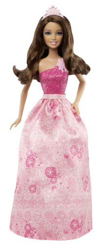(Mattel Barbie X9441 - Party Prinzessin, brünett, Puppe)