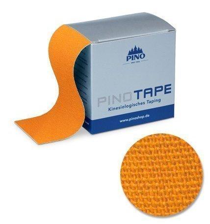 Pinotape Pro Therapy - Das Original - Kinesiologie Baumwolle Tape verschiedene Farben und Designs 5 cm x 5 m, besonders hautfreundlich - Physio-Tape (Orange)