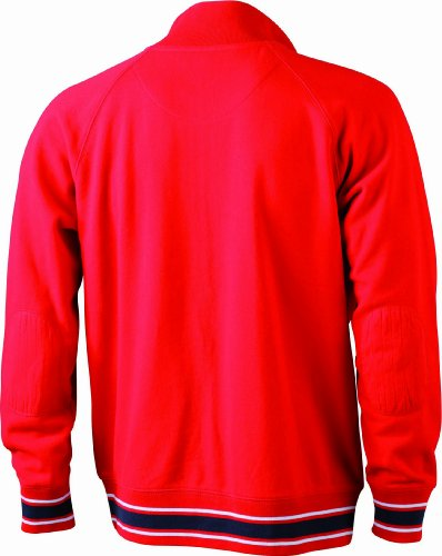 James & Nicholson Herren Sweatshirt Red/Navy/White
