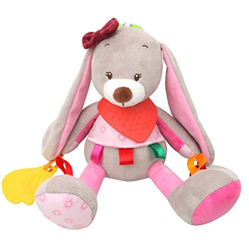 Mitlfuny Kinder Erwachsene Entwicklung Lernspielzeug Bildung Spielzeug Gute Geschenke,Baby Rasseln Plüsch mit Beißring niedlichen Tier hängen Bell Spiel Spielzeug Puppe (Puppe Jessie)