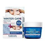 Floslek WINTER CARE Creme für fettiger Haut mit Problemen | 50 ml | Ausgezeichneter Winterschutz der empfindlichen Haut | Gesicht, Dekolleté und Handpflege im Winter