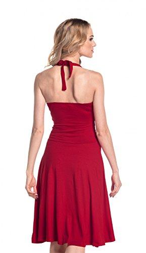 Glamour Empire. Damen Jersey Kleid Tiefer V-Ausschnitt Wickeloptik S-4XL. 145 Purpur