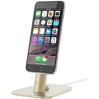 iPhone dock, Spinido TI-SET Supporto da Scrivania Dock di Ricarica e Sincronizzazione per iPhone 6S/SE/iPad mini/iPad Air, compatibile con il cavo originale Lightning – cavo non incluso (Oro)