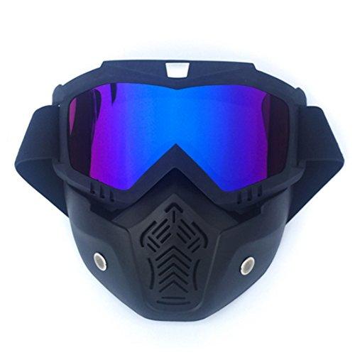 Seciie Maske Taktische, Paintball Maske Airsoft Maske mit Brille Schutzmaske Gesichtsmaske im Klassisch-Stil für Nerf Rival CS und Skifahren -