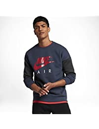 Nike NSW Crew LS Air Thunder Blue Anthracite University Red - L