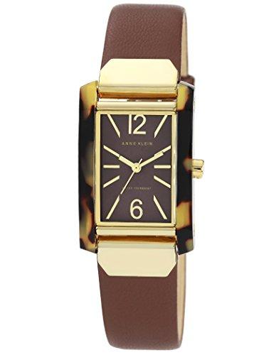 anne-klein-womens-quartz-watch-with-brown-dial-analog-display-and-brown-leather-bracelet-ak-n1146tob