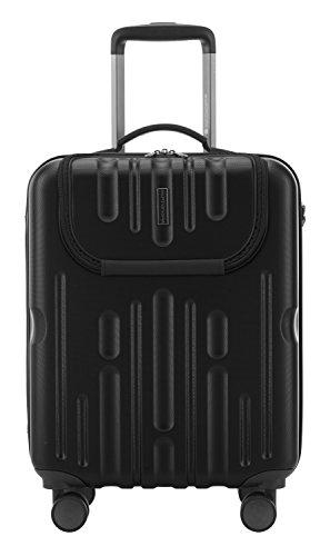 HAUPTSTADTKOFFER - Havel - Handgepäck Hartschalen-Koffer Trolley Rollkoffer Reisekoffer, TSA, 54 cm, 41 Liter, Schwarz -