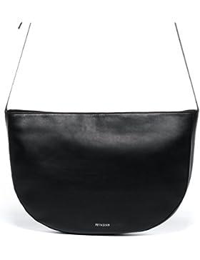 b8138cd86582b FEYNSINN® Schultertasche ILVY - Damen Umhängetasche XL groß Ledertasche -  Handtasche Halbmond Damentasche echt.
