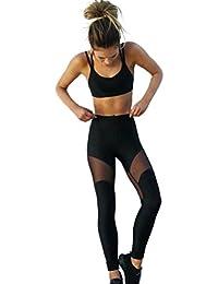 Cinnamou Conjunto de Ropa de Mujer Terciopelo 2 Piezas Entrenamiento Gym Fitness Halter Top Leggings Pantalones Ropa Deportiva