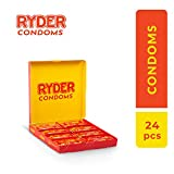 Ryder Preservativi - Confezione da 24 - Preservativi trasparenti lubrificati - Preservativi sottili per un sentimento naturale