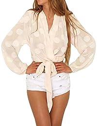 d0bfdc330398c MVPKK Chemise Femme Chic Chemise Dot Dot Femme Chemise Noeud Papillon Femme  Sexy Tops T-