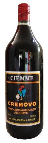 Marsala Cremovo Ciemme 2 L - Vino Aromatizzato all´Uovo - Aromatisierter Wein mit Ei 14,5 % Vol. aus Italien