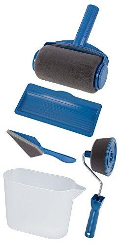 Paint Roller - Il Geniale Rullo da Pittura con Serbatoio Integrato, Antigocciolamento, Non Sporca, Facile da usare. Compresi nel Kit, il Rullo di Precisione e il Pennello Angolare