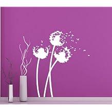 00239 Adesivo murale Wall Art - Soffioni 1 - Misure 70x80 cm - bianco - Decorazione parete, adesivi per muro, carta da parati