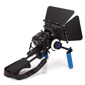Yimidear Universal Professional Pro DSLR épaulière Soutien Mont Rig + Poignée + suivent le foyer + Digital Matte Box M3 Video Kit de film pour DSLR / DV caméra vidéo