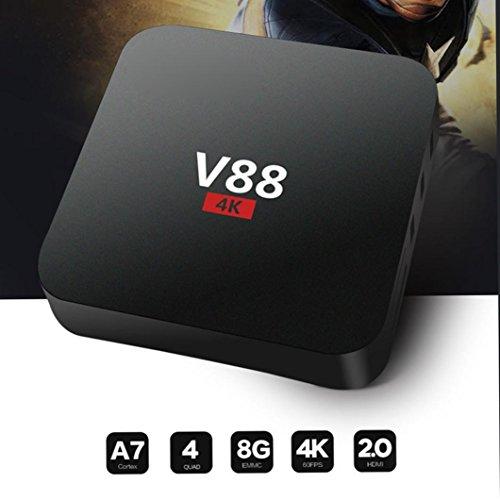 802.11 B/g Router (SO-buts V88-4K Max Android TV-Box, 1080p HD, Android 5.1, DDRII1GB, Android 5.1 Quad-Core-Prozessor 64-Bit-, 802.11 B/G/N WLAN, 10/100 BASET, 4k 2k, Smart-TV-Box, Wireless Router (Schwarz))