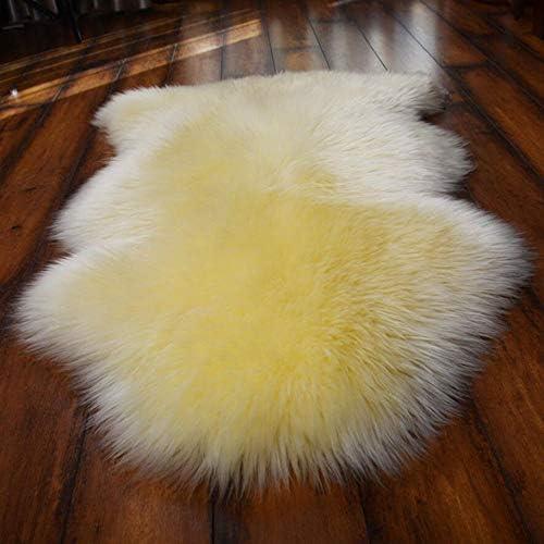 RX Australia Naturale Puro Montone tappeti Peloso Stile Tappeto di Lana Pelliccia Non Slip qualità Premium Stuoie di Lana di Divano Pad Cuscino Yoga seggiolino Auto,3,70x100cm(28x39inch) 3e602d