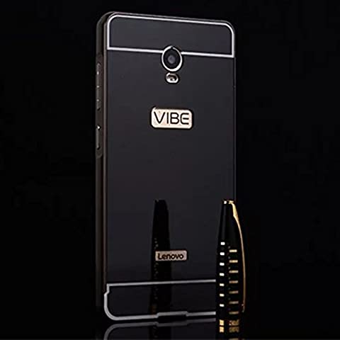 Coque Lenovo Vibe P1 Generation Aluminium Miroir Coloris noir Etui Housse Bumper