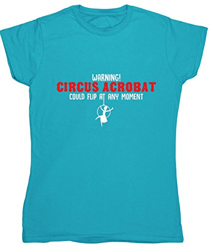 hippowarehouse-warning-circus-acrobat-could-filp-at-any-moment-womens-fitted-short-sleeve-t-shirt