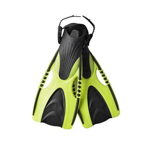 RUNMIND Rungao Schwimmflossen für Erwachsene, mit verstellbarem Riemen zum Schnorcheln, Tauchen, Scuba, offene Ferse, Leuchtend grün, S-M(36-40)