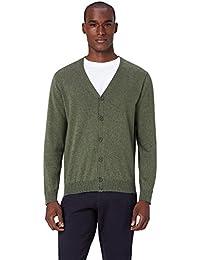 Uomo uomo it Abbigliamento Verde cardigan Amazon 6HOqwYTY