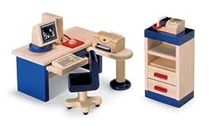 Pintoy meubles en bois maison de poupées - étude