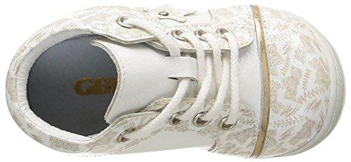 GBB Mae, Chaussures Bébé marche bébé fille Blanc (39 Vvn Blanc/Imprimé Dpf/Kezia)