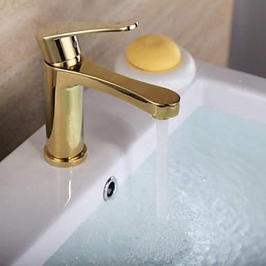 GDS Faucet£¬ Antique Ti-PVD Finish Brass One Hole Single Handle Bathroom Sink Faucet