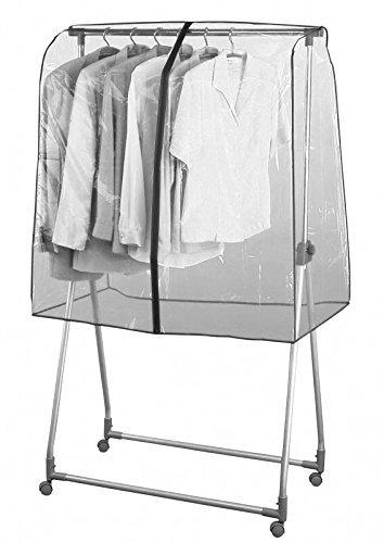 Mabi 310 Transparente Universal Reißverschluss-Abdeckhaube L97 x H118 x B53 cm für Kleiderwagen Konfektionsständer Garderobenständer Rollständer & Marktständer