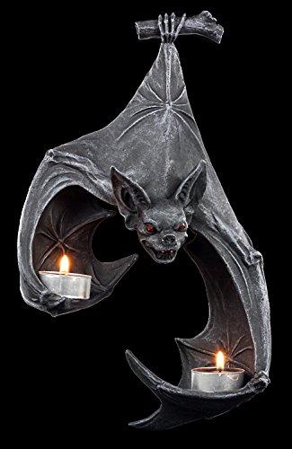 Fledermaus Figur Wand-Teelichthalter