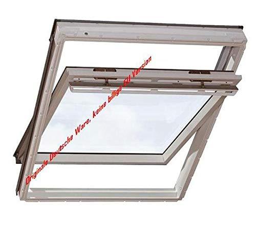 Velux Dachfenster GGU Schwingfenster 114x140cm SK08 0060 Thermo Plus Kunststoff mit Ziegeleindeckrahmen EDZ 0000