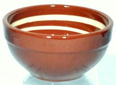 Genuine Terracotta 13cm Breakfastdessert Bowl - Browncream Set Of 2 from Be-Active