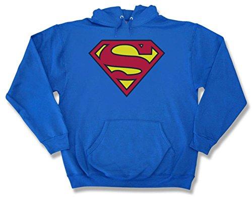 DC Comics Superman Herren Kapuzenpulli Blue