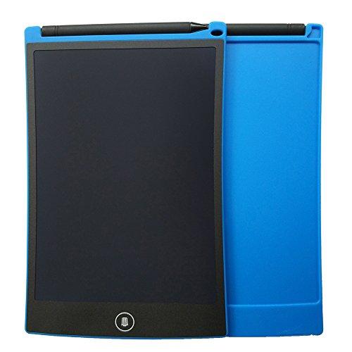 EZLIZE Wiederbeschreibbares elektronisches Notizbuch 8,5-Zoll-LCD-Schreibens-Tablet-Reißbrett für die Kinder, die kritzelnde Familie lernen, die Mitteilung-Einkaufsliste-Arbeitsaufzeichnung lassend (Blau)