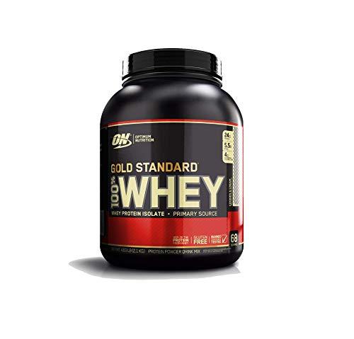 Optimum Nutrition Gold Standard Whey Protein Pulver (mit Glutamin und Aminosäuren. Eiweisspulver von ON) Cookies & Cream, 68 Portionen, 2,27kg
