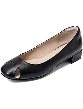 Scarpe piatte nere nere di scarpe ( Colore : Nero , dimensioni : 36 )