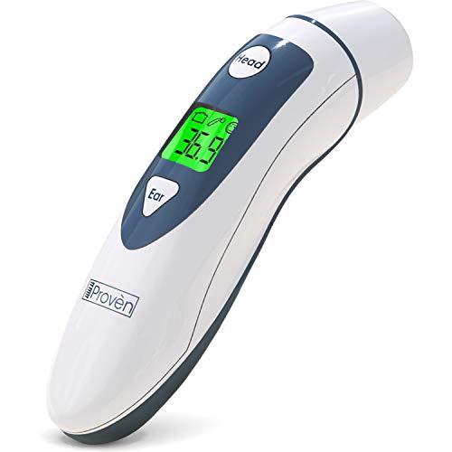 fiberthermometer Original iProvèn Ohr Fieberthermometer mit Stirn Thermometer Funktion mit Fieber Indikator FDA zertifiziert  DMT-489