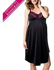 Nuisette d'allaitement glamour Lure noir et rose pour bonnets F à I