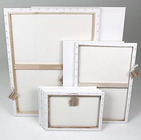 Keilrahmenset-2: je 2x 60x80cm + 40x60cm, 4x 30x40cm, 8 große
