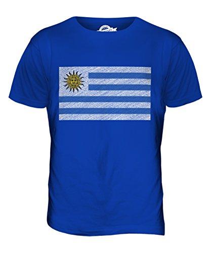 CandyMix Uruguay Kritzelte Flagge Herren T Shirt Königsblau