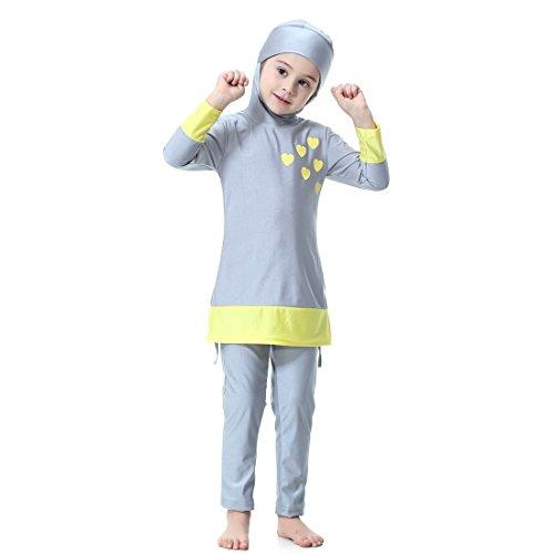 Gnaixeh Muslimische Badebekleidung Für Kinder Mädchen Kinder Bescheidenen Islamischen Badeanzüge Burkini (Muslimische Mädchen)
