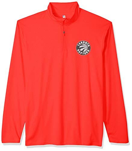 Long Sleeve Knit Tee (Ultra Game NBA Herren Pullover, Quarter Reißverschluss, schnell trocknend, Herren, Men's Quarter Zip Poly Knit Long Sleeve Shirt, Team Color, Large)