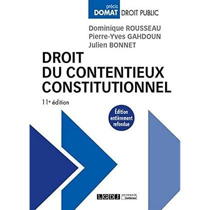 Droit du contentieux constitutionnel, 11ème Ed.