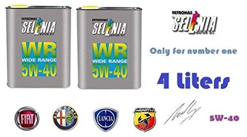 4 Litri Olio motore Selenia WR 5W40 specifico per vetture FIAT-ALFA-LANCIA