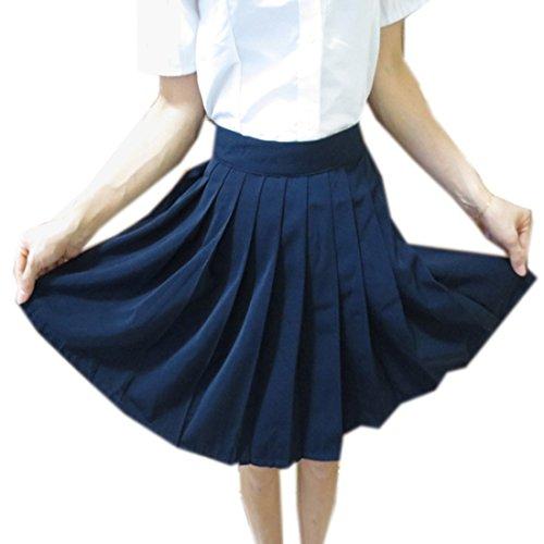 QIYUN.Z Art Und Weise Faltete Hohe Wartet Frauen Jk Uniformen Frauen Student Maedchen Roecke Marine