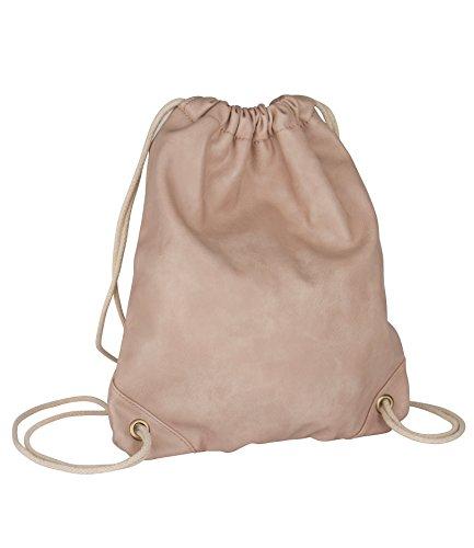 SIX-Basic-nude-rosa-Damen-Turnbeutel-in-Wildlederoptik-Rucksack-Beutel-Umhngetasche-mit-beiger-Kordel-Sportbeutel-463-443
