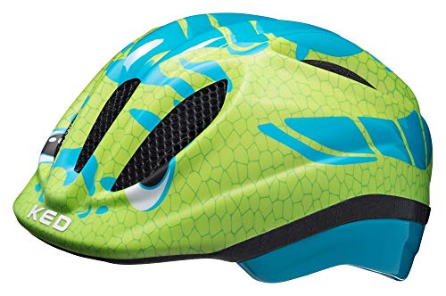 Preisvergleich Produktbild KED Meggy Trend Helmet Kids Dino Light Blue Green Kopfumfang S / M / 49-55cm 2019 Fahrradhelm