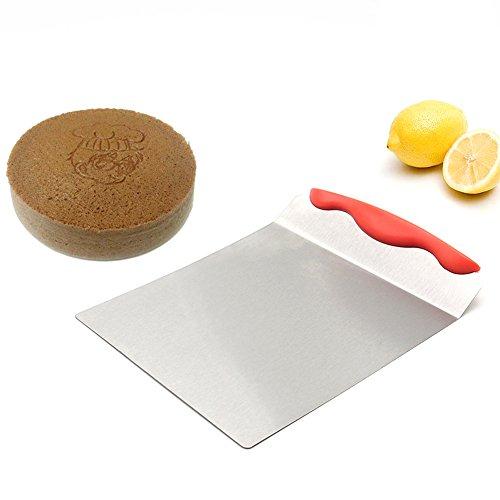 AIU Kuchenheber 8-Zoll Kuchenschaufel Lebensmittel-Edelstahl Tortenheber (Rot)